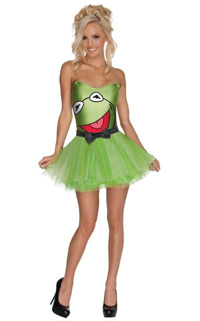 Adult The Muppets Tutu Kermit the Frog Costume- Party City - green dress halloween costume ideas