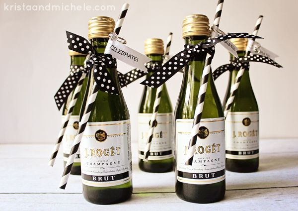 Awesome Personalized Mini Champagne Bottles Wedding Favors Gallery ...
