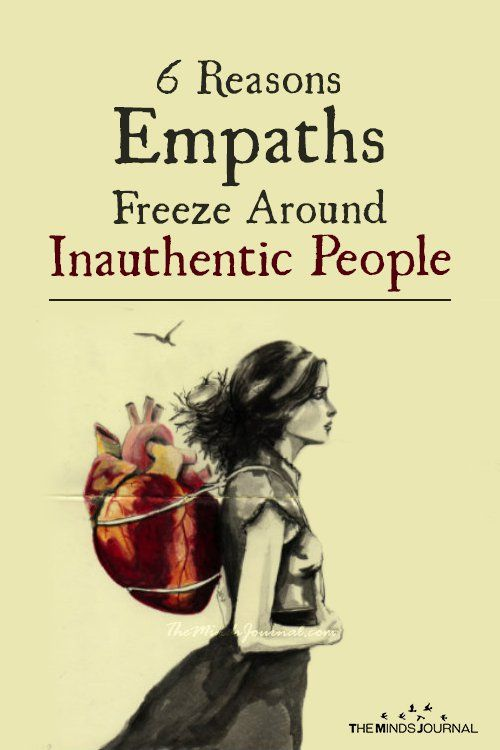 Inauthentic People: Why Empaths Freeze Around Fake People