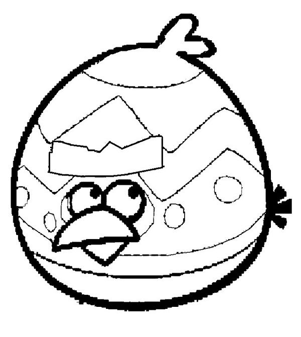 Angry Birds Coloring Pages Easter