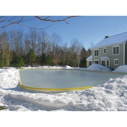 Backyard Ice Rink Kits   Backyard ice rink, Ice rink, Backyard