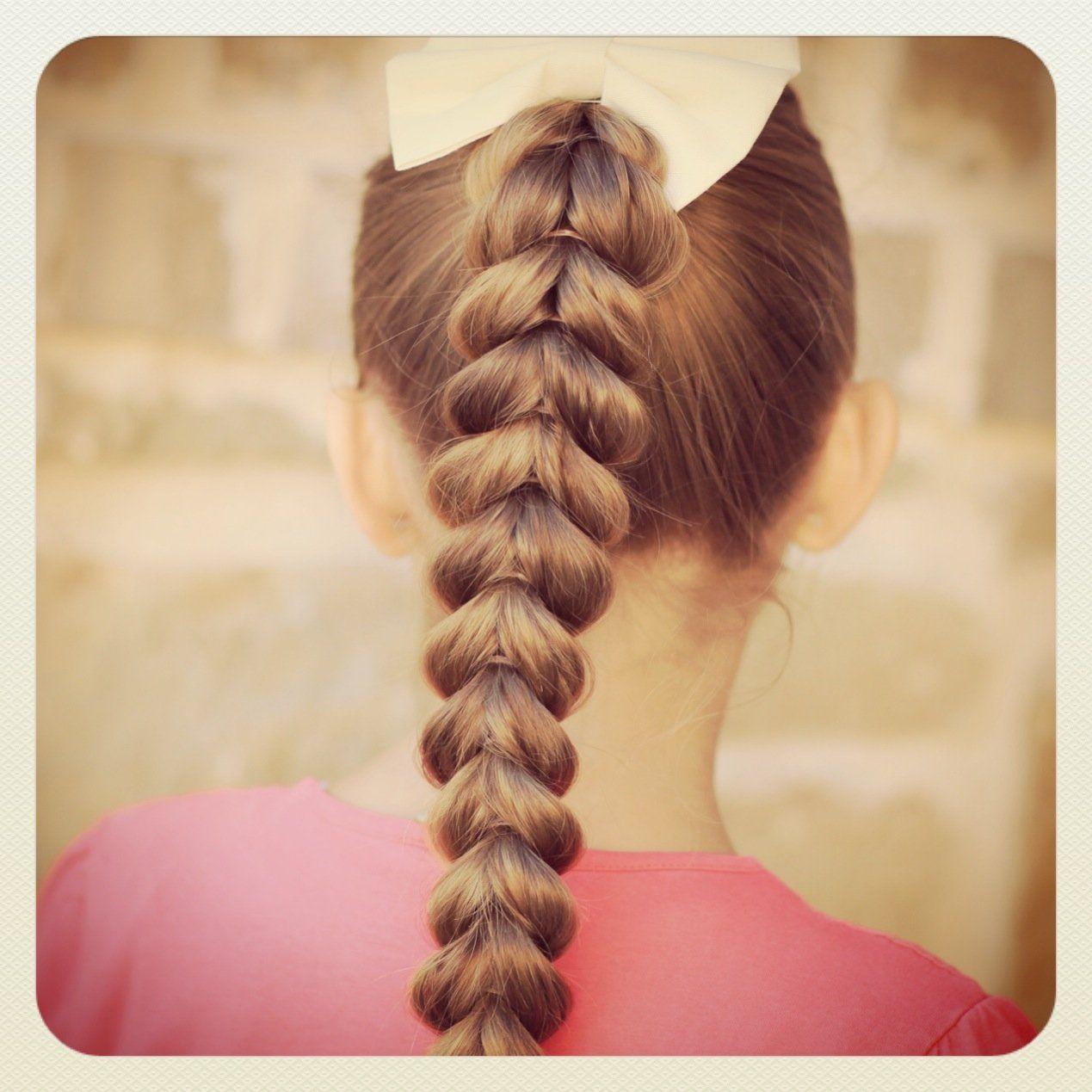 PullThrough Braid Easy Hairstyles Hairrr Pinterest Easy