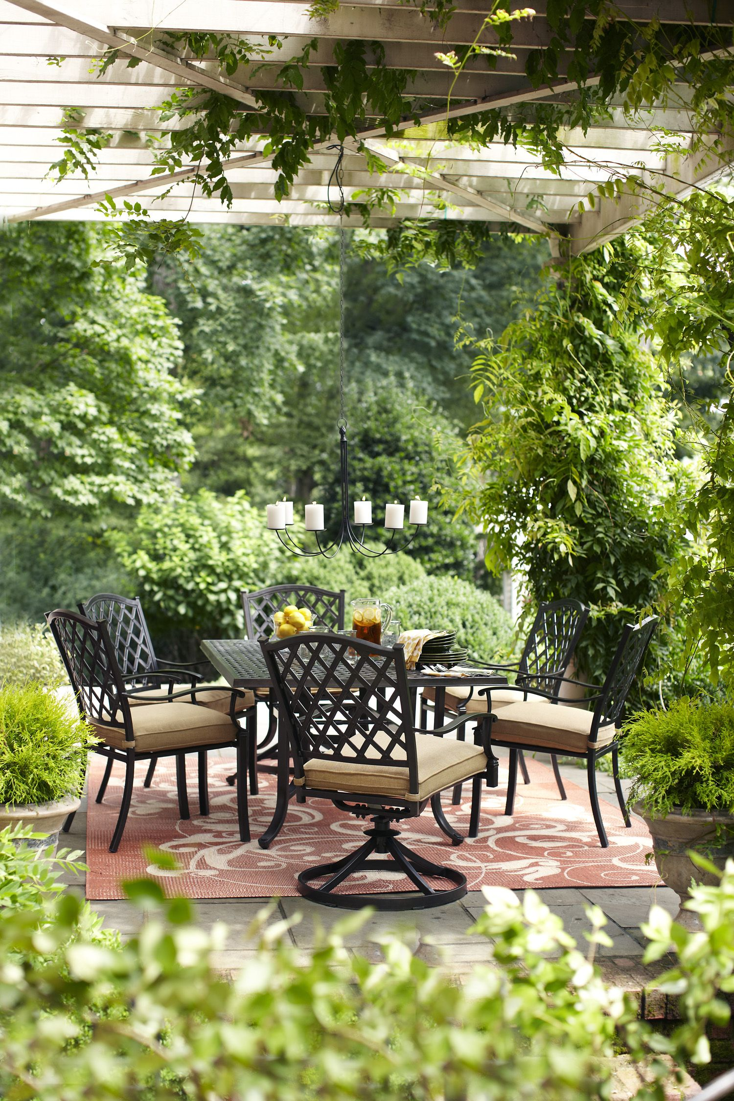 Gather Around This Allen Roth Patio Table For Family