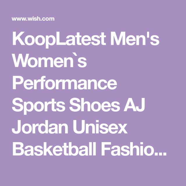 068cfeeb30e KoopLatest Men s Women`s Performance Sports Shoes AJ Jordan Unisex  Basketball Fashion Sneakers bij Wish
