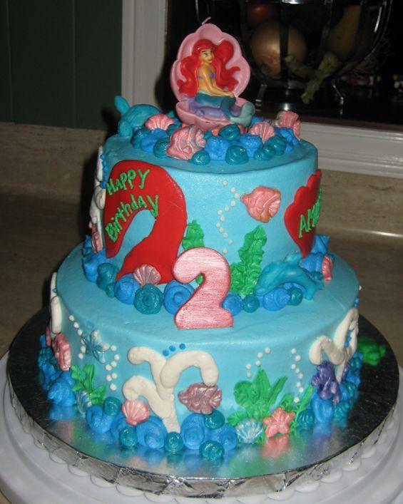 Little Mermaid Birthday Cake | Birthday cake decorating ...
