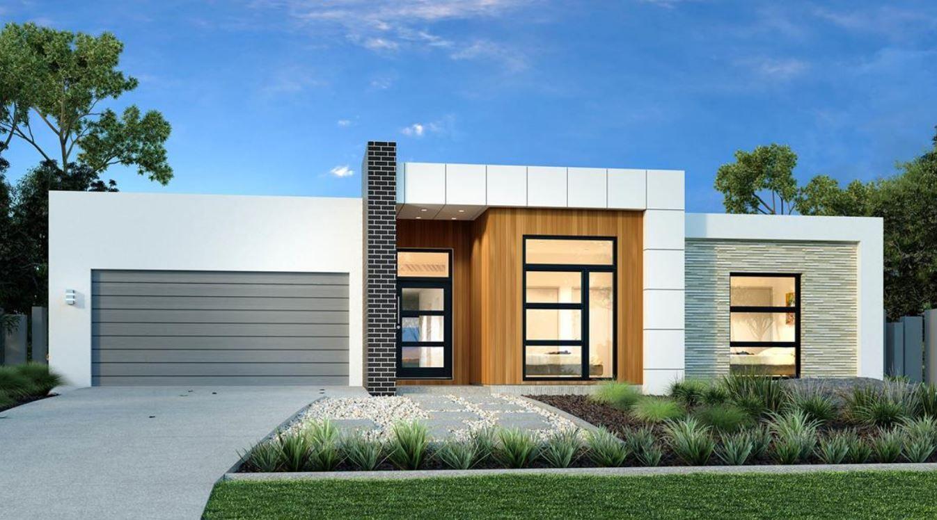 15 fachadas de casas modernas de una planta home en for Fachadas casas modernas de una planta