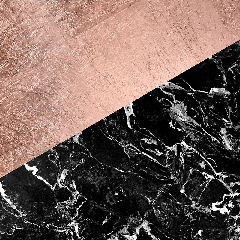 Chic Modern Rose Gold Black Marble Color Block By Girlytrend Black And Gold Marble Gold And Black Background Gold Marble Wallpaper