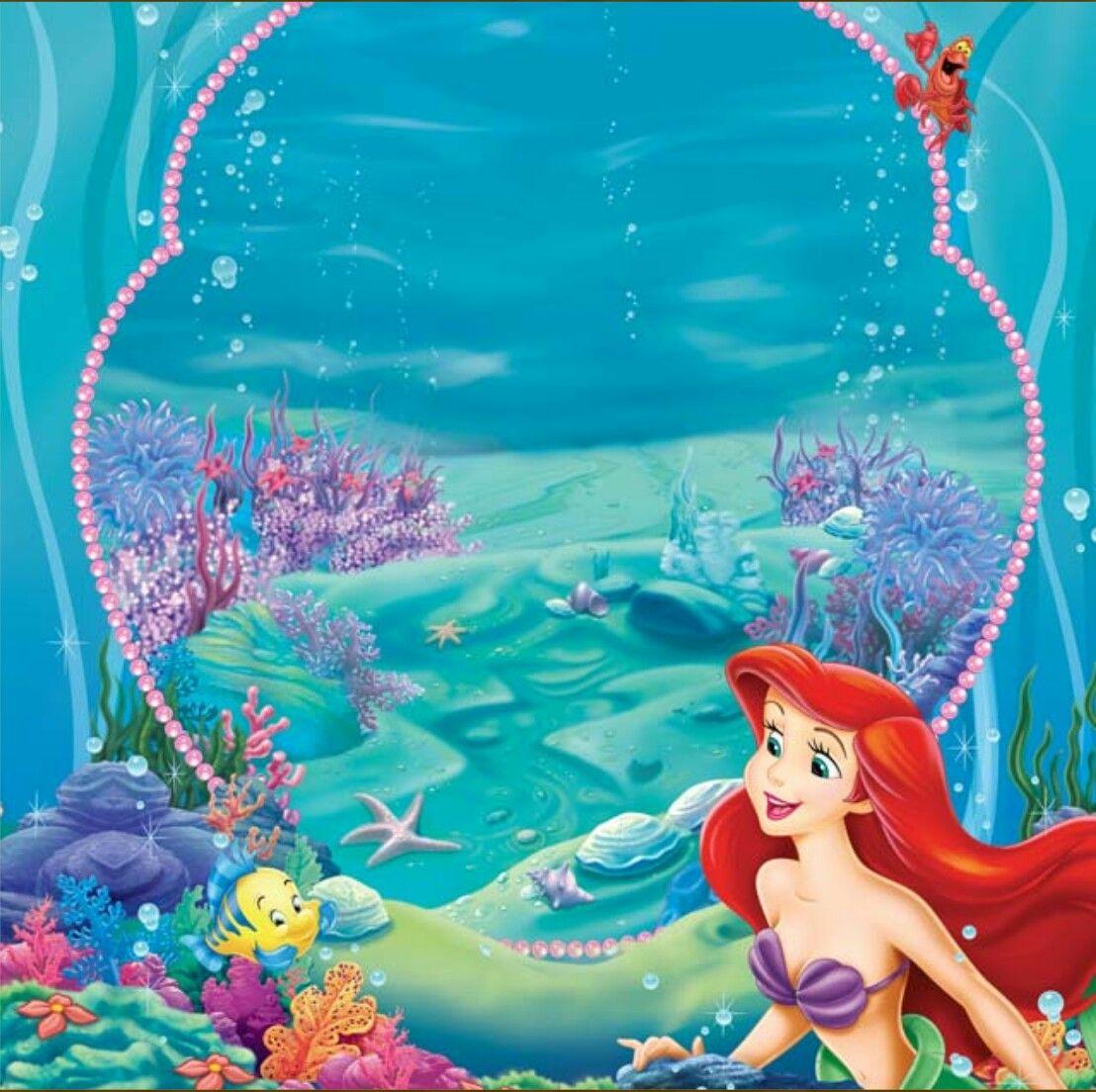 Little Mermaid Templates Invitaciones De Cumpleaños De