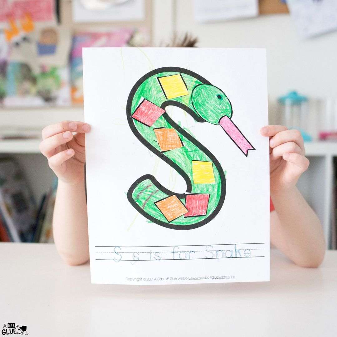 Animal Alphabet S Is For Snake