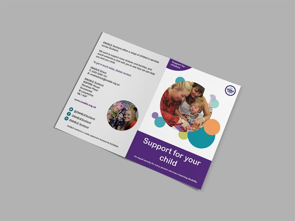 Supporting Vs Enabling Your Child With >> Supporting For Children Service Leaflets Bi Fold