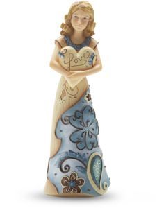 """Love by Perfectly Paisley - 5.5"""" Figurine w/Heart"""