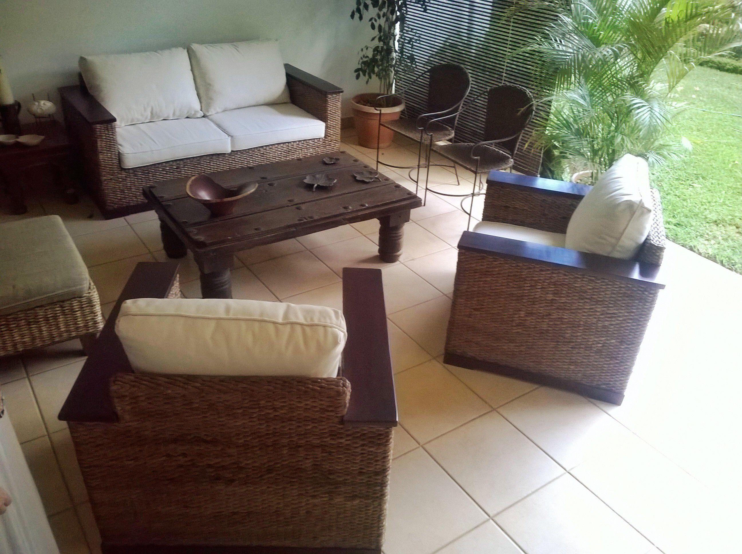 Mueble Toscana En Fibra De Pl Tano Y Apoya Brazo De Madera  # Muebles Toscano Cordoba