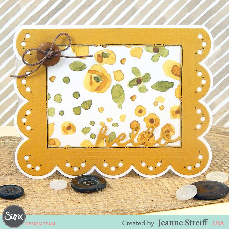 Sizzix Card Making Ideas Part - 28: Sizzix Drop-Ins By Stephanie Barnard Turn Cardmaking To Fast And Simple  Without Losing The