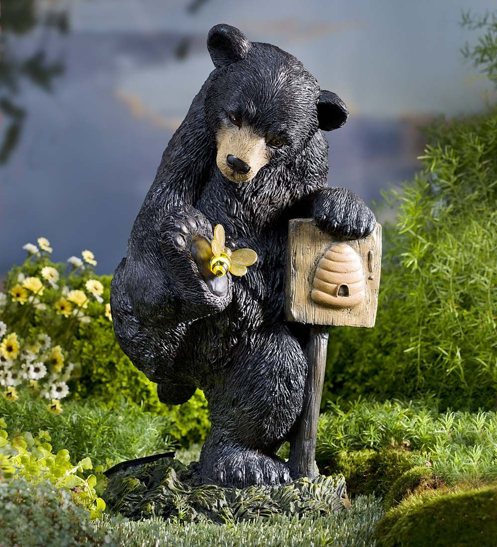 Solar Bear With Bee Garden Statue Statues