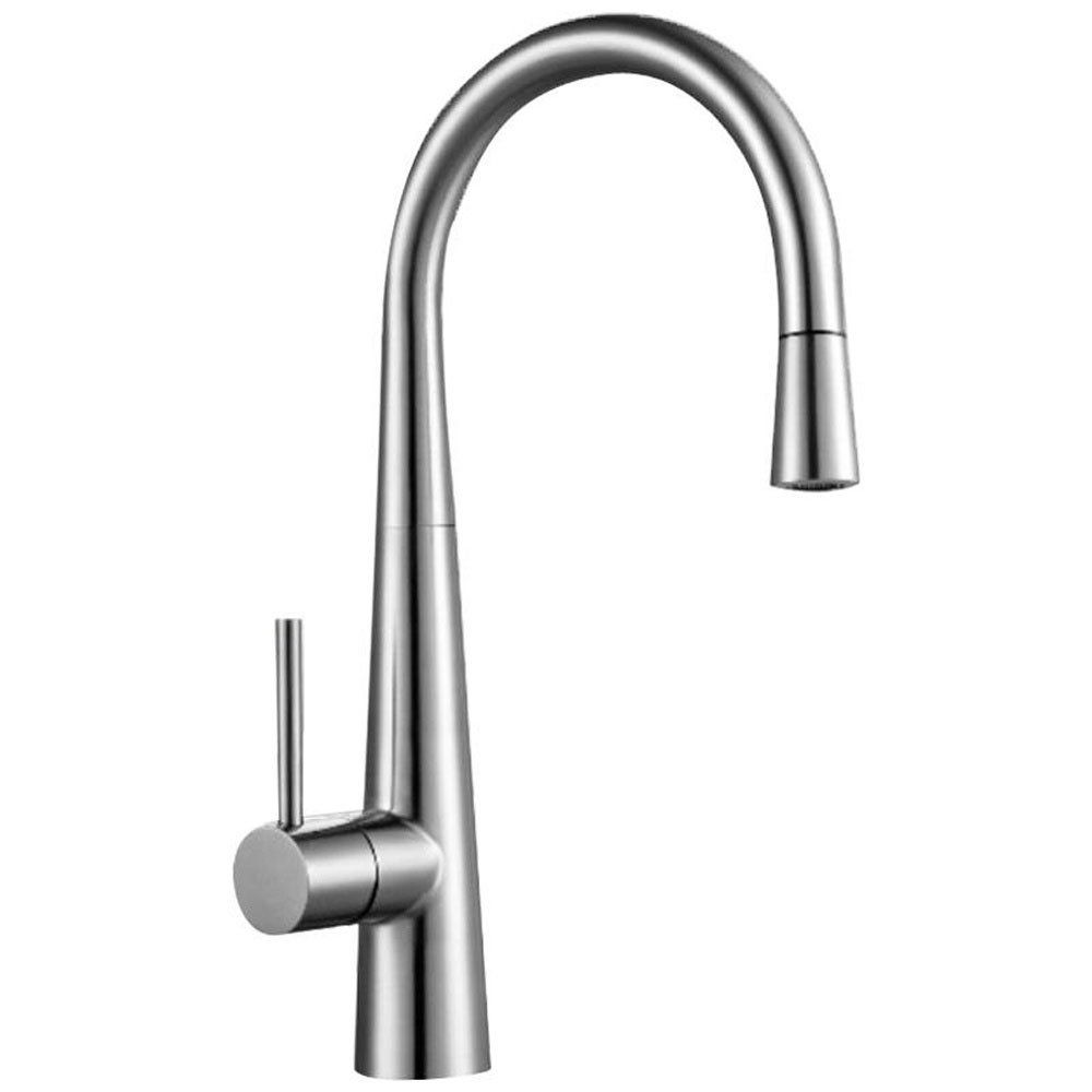 astini celino brushed stainless steel pullout rinser kitchen sink mixer tap hk76 - Brushed Steel Kitchen Sinks