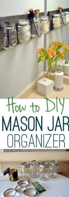 DIY Tips For An Organized Bathroom - Do It Yourself Pretty On The Wall ...#bathroom #diy #organized #pretty #tips #wall