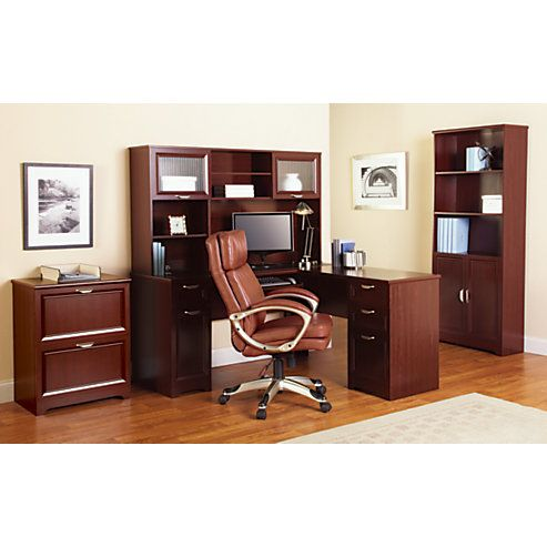 Realspace Magellan Collection L Shaped Desk 30 H x 58 34 W x 18 34 - office depot