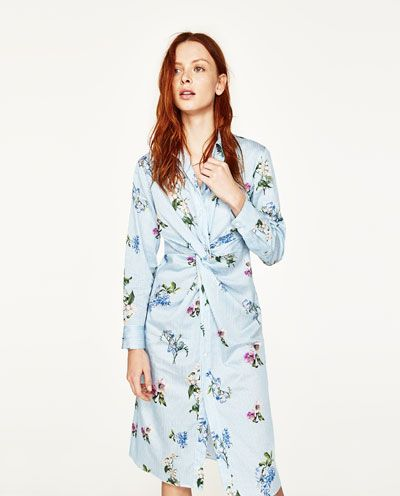 c2f0ded35ffc Image 2 of PRINTED TUNIC WITH KNOT from Zara | High Street Research ...