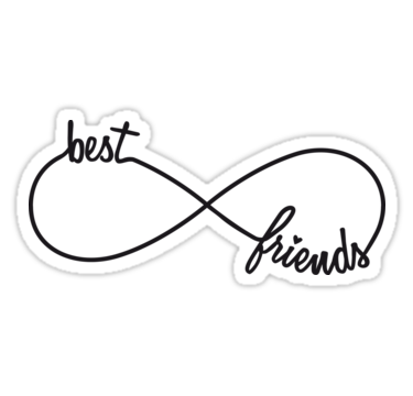 Best Friends Forever Infinity Sign Sticker By Beakraus Best Friend Drawings Cute Best Friend Drawings Drawings Of Friends
