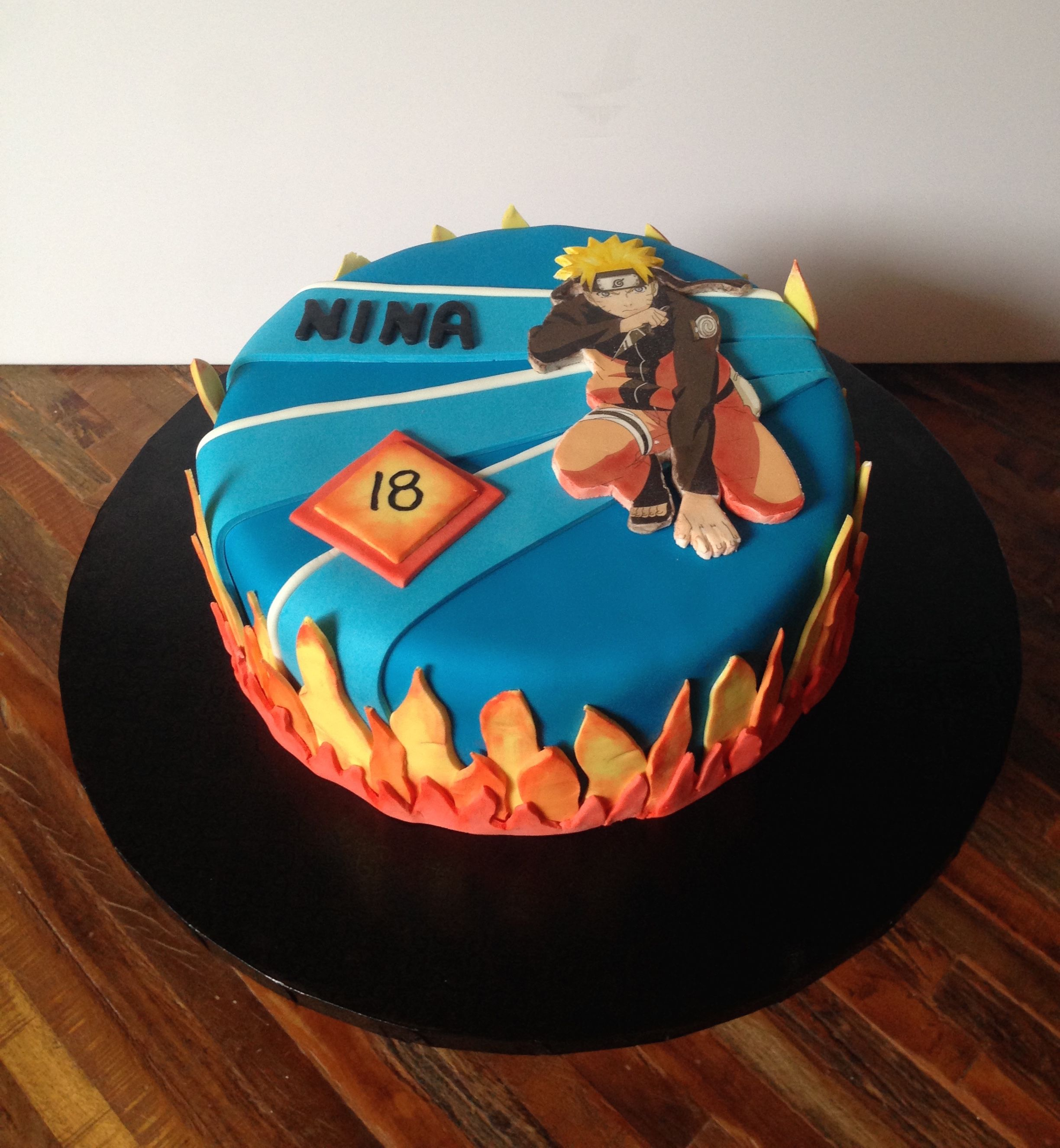 Astounding Naruto Birthday Cake Badass Red Velvet With Chocolate Espresso Personalised Birthday Cards Sponlily Jamesorg
