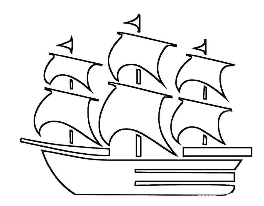 Ship Is Speeding Quickly Coloring Page Schiffszeichnung Kostenlose Ausmalbilder Piraten Kinder