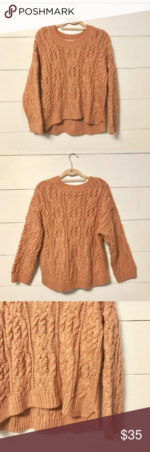 Cable Knit Chunky Sweater | Cable knitting, Taupe colour and Cable ...