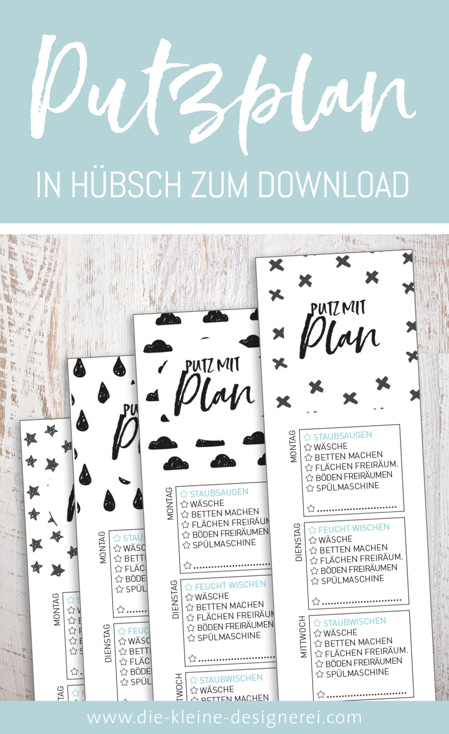 putzplan zum ausdrucken haushalt pinterest checkliste planer und putzplan. Black Bedroom Furniture Sets. Home Design Ideas