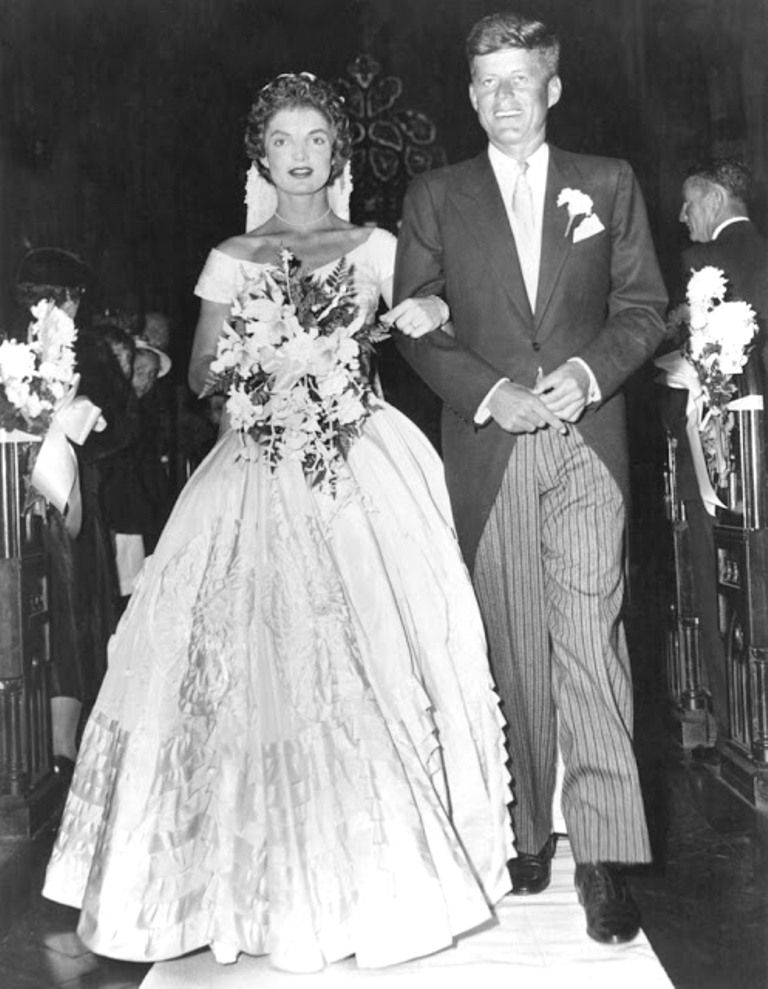 S His Bride Jacqueline Lee Bouvier Down The Church Aisle Shortly After Their Wedding Ceremony At Newport Rhode Island Photo By Keystone Getty