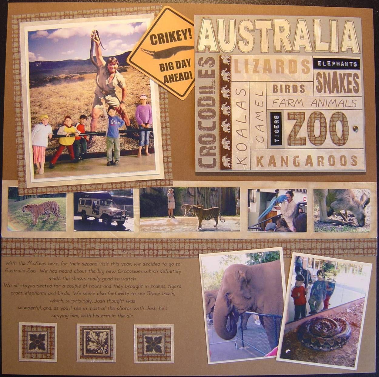 Scrapbook paper australia - Australia Zoo L Scrapbook Com
