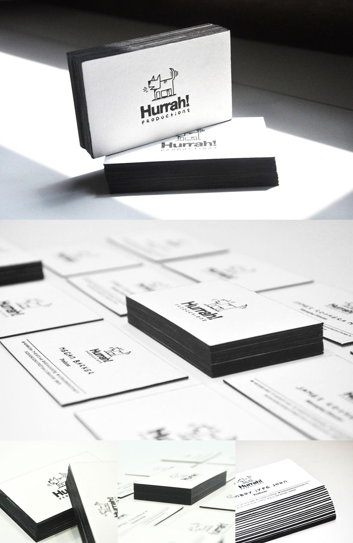 Hurrah letterpress black edge business card design on behance hurrah letterpress black edge business card design on behance reheart Choice Image