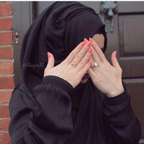 Hidden face. Hidden face Muslim Girls