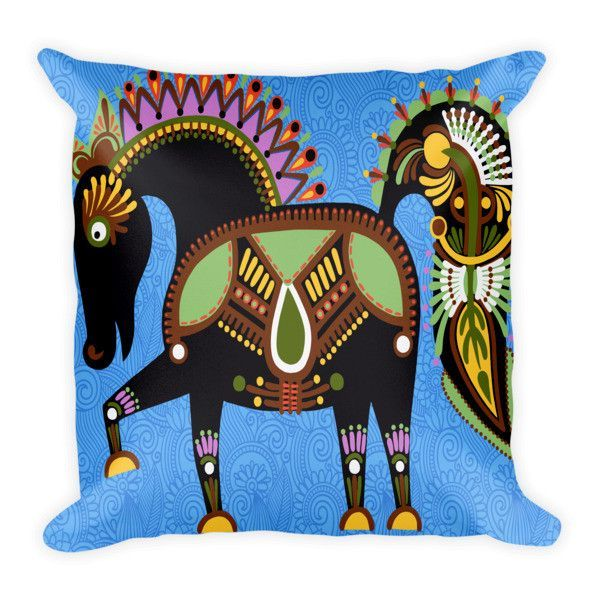 Equestrian Home Decor - Inca Horse - Pillow