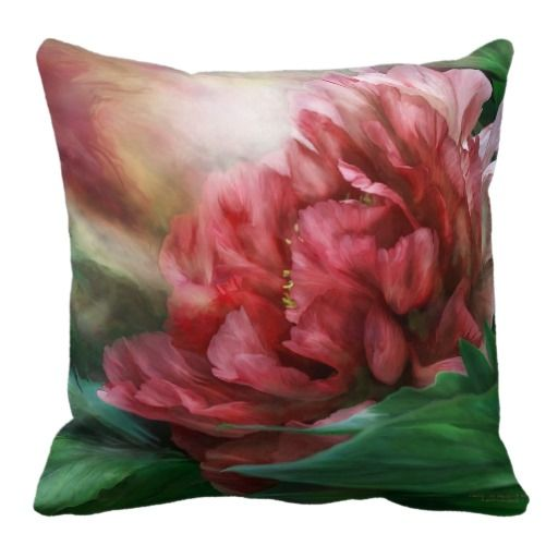 Peony - 50 Shades Of Red Art Decorator Pillow