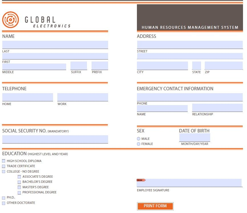 I can make interactive PDF form for €10. My Hourlie on