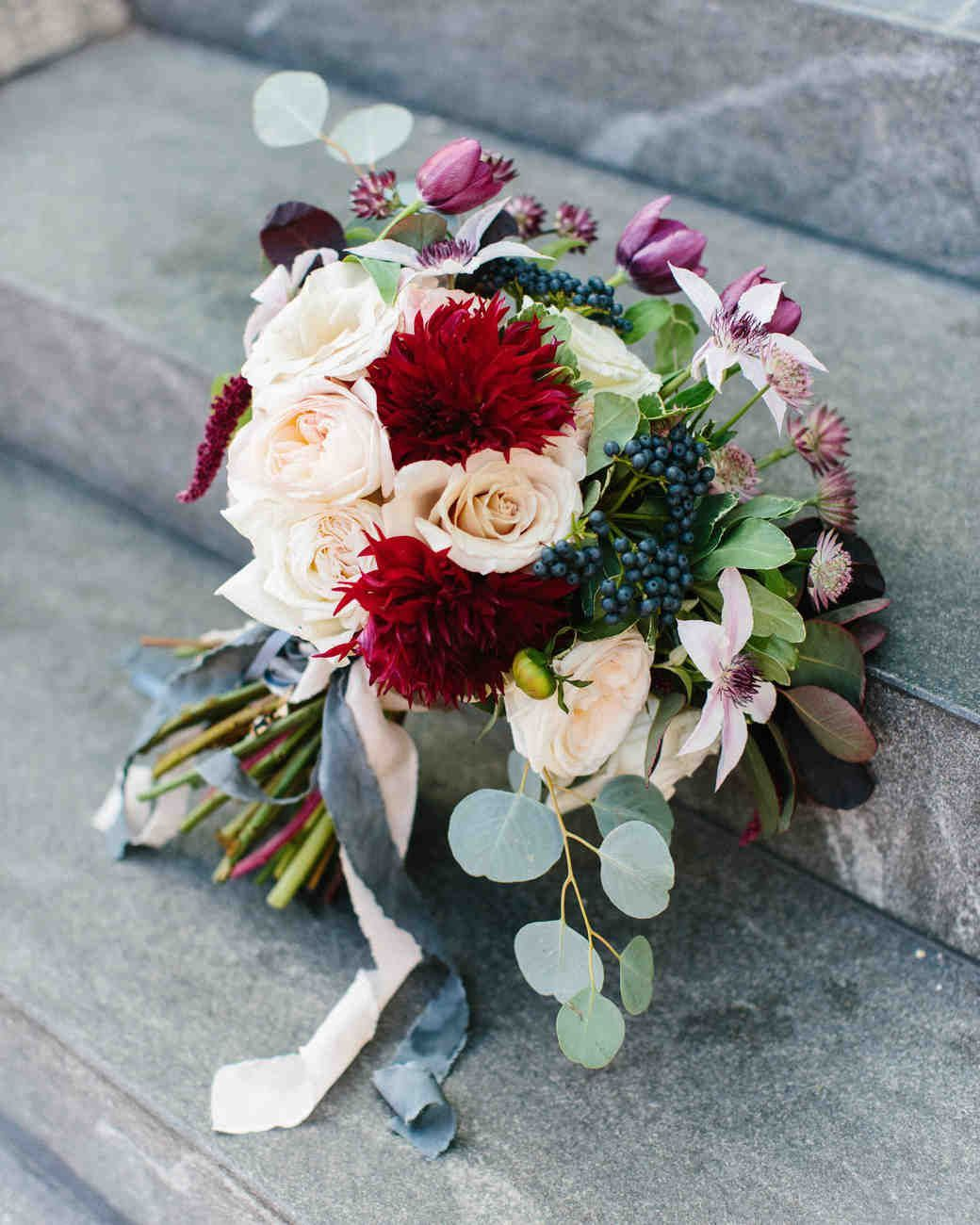 34 Romantic Red Wedding Bouquets | Martha Stewart Weddings #fantasticweddingbouquets