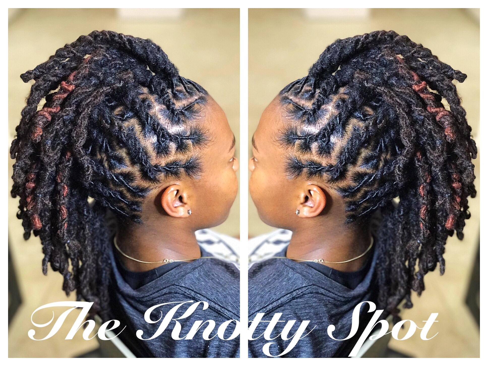 Locs Barreltwist Mohawk Locs In 2019 Hair Styles Natural
