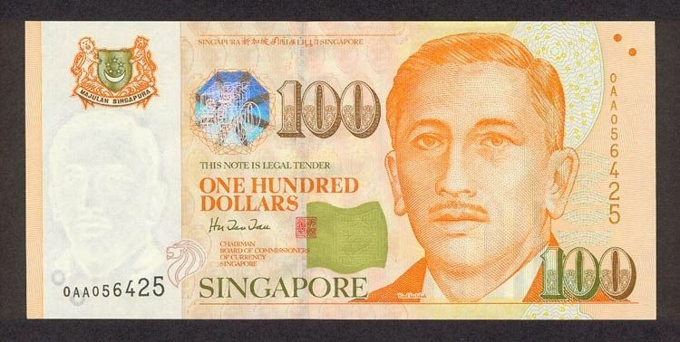 Singapore 100 Dollars Coins Banknotes Pictures Bank Notes Banknotes Money Dollar Banknote