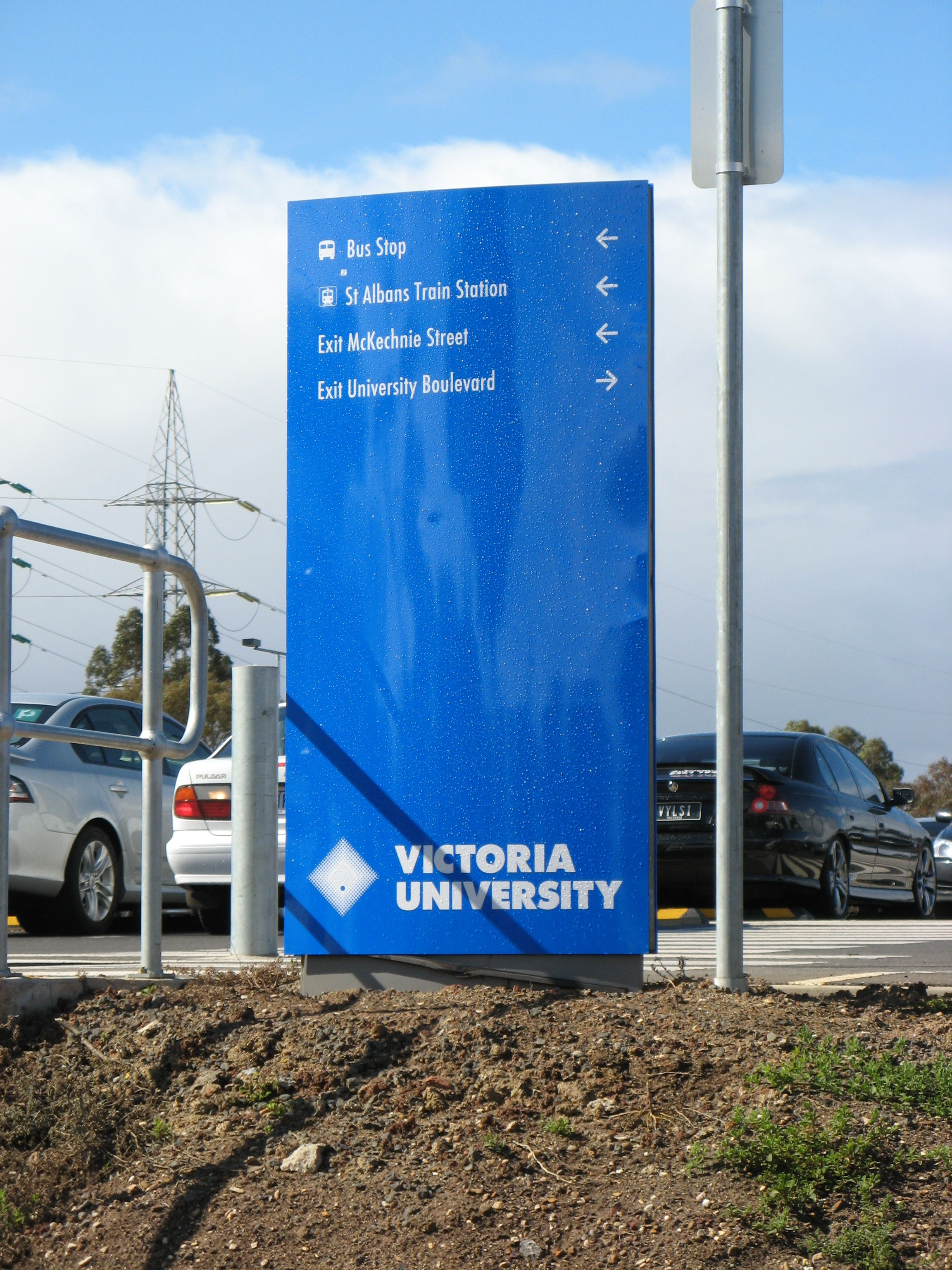 Victoria University sign map custom design wayfinding