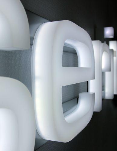 Fully illuminated formed acrylic letters