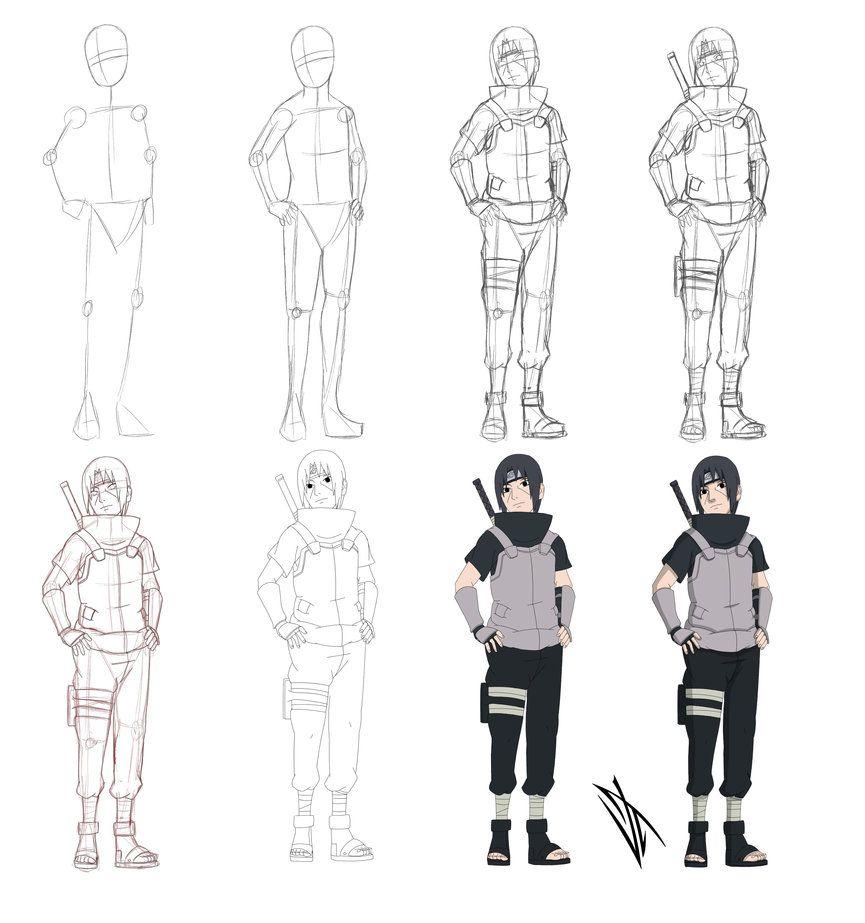 Step By Step Uchiha Itachi By Johnny Wolf Naruto Sketch Drawing Naruto Sketch Itachi Uchiha Art