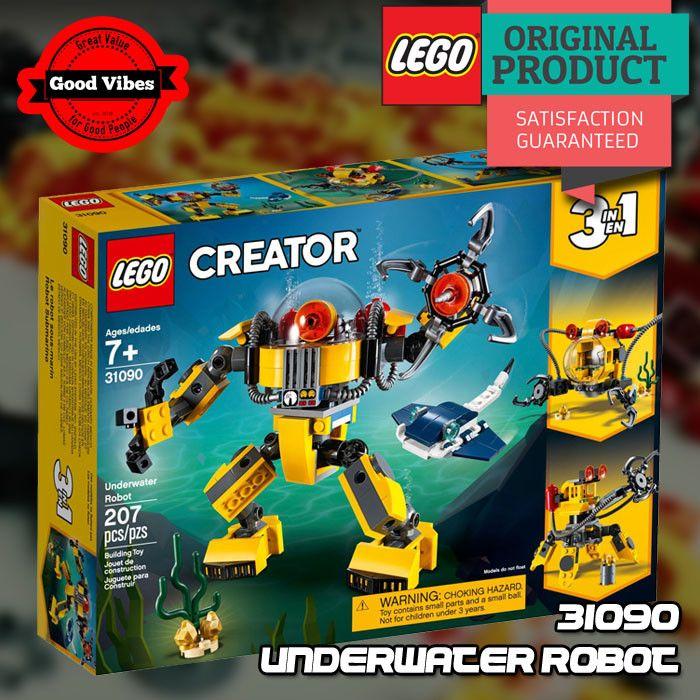 LEGO 31090 Underwater Robot CREATOR Mainan Robot Anak ...