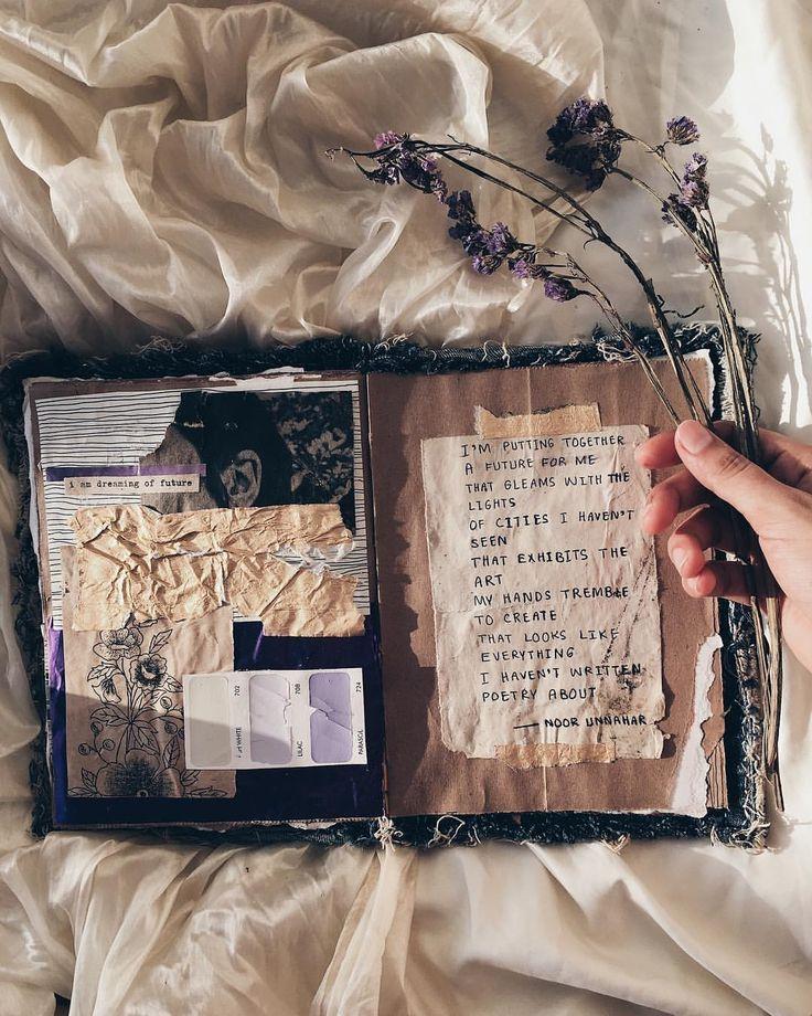 – future // journal dart + poésie de noor unnahar // idées de journalisation inspiratio …