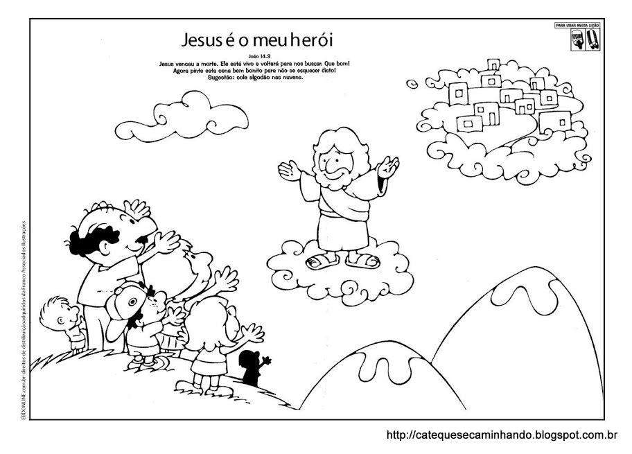 Kleurplaat hemelvaart / Ensino Religioso,Moral,Ética e Cidadania ...