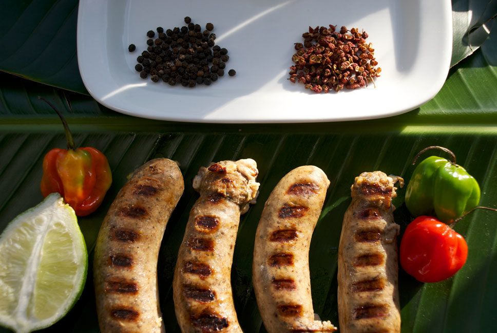 Maroon Sausage Company. Blends spices from the Caribbean and Asian with Italian sausages. (New York)