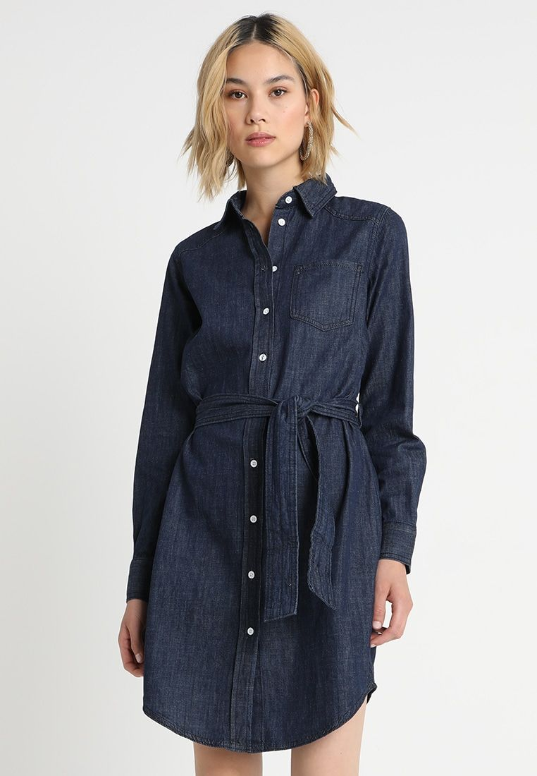 5e25ba820c JDYESRA SHIRT DRESS - Spijkerjurk - dark blue denim   Zalando.nl ...