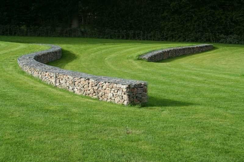 gabion retaining Garden Pinterest
