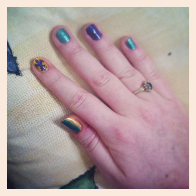 Pins check out www mynailpolishobsession com for more nail art ideas - Mardi Gras Nail Art Check Out Www Mynailpolishobsession Com For More Nail Art Ideas