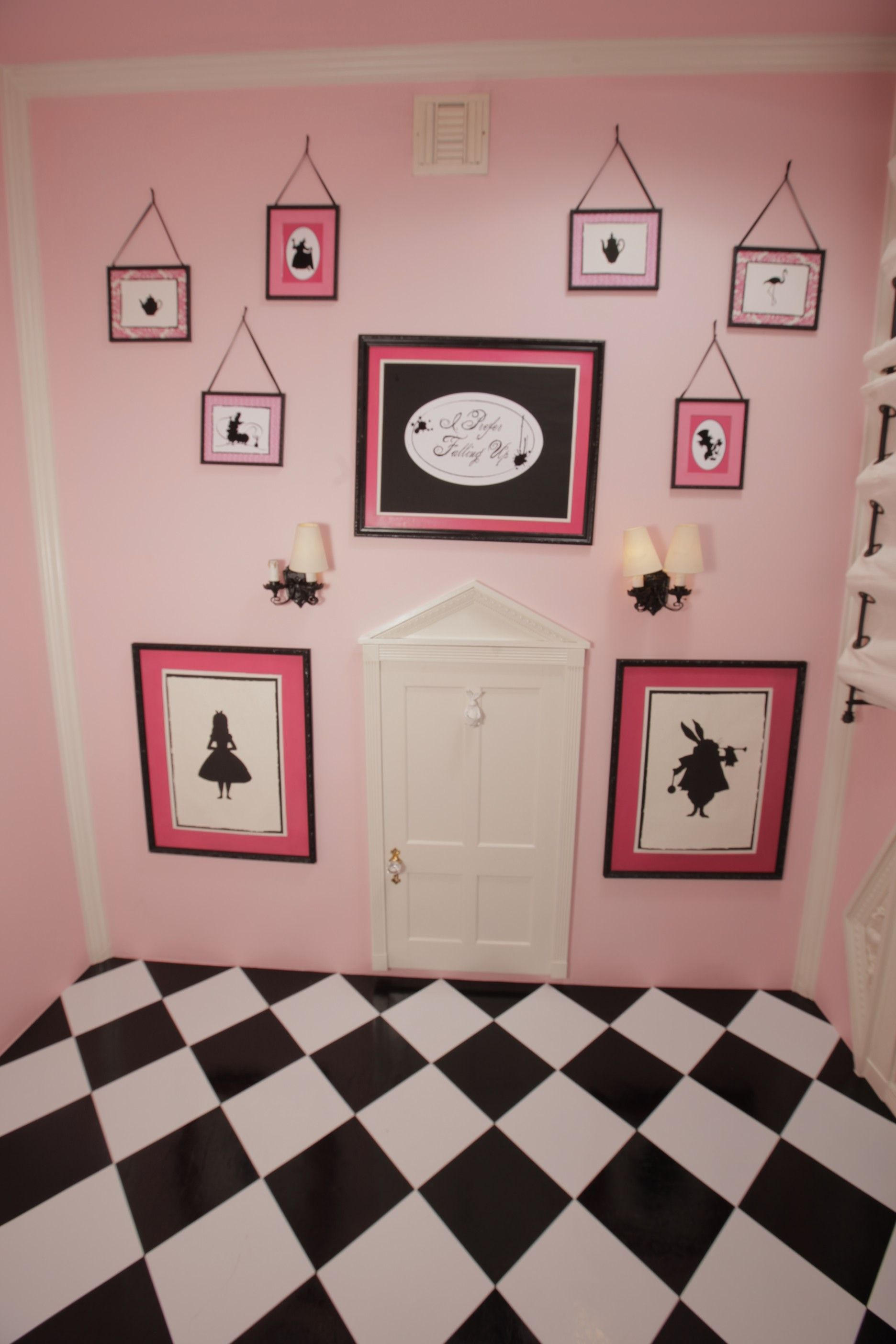 Marvelous This Is Our Pink Alice In Wonderland Room. It Made For A Very Unique Nursary