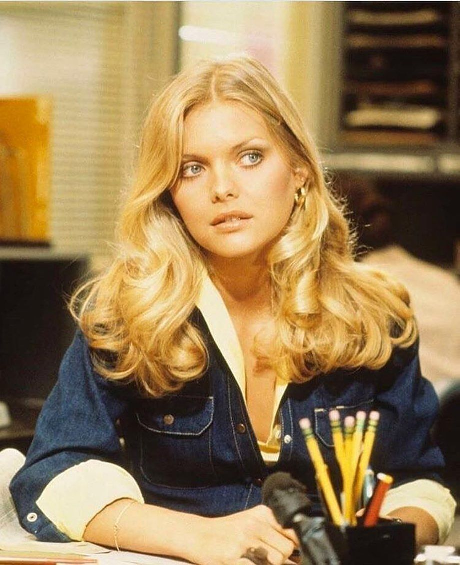 Michelle Pfeiffer In The 70s Shop Genuine 1970s Vintage Pieces Now At Boogiechild On Depop Link In Bio Vintageclothi Hair Styles Hair Beauty 70s Hair