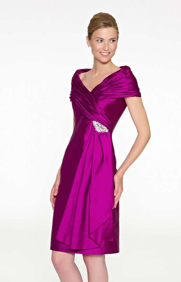 Vestidos de fiesta para bodas de día: este modelo de color liso es ...